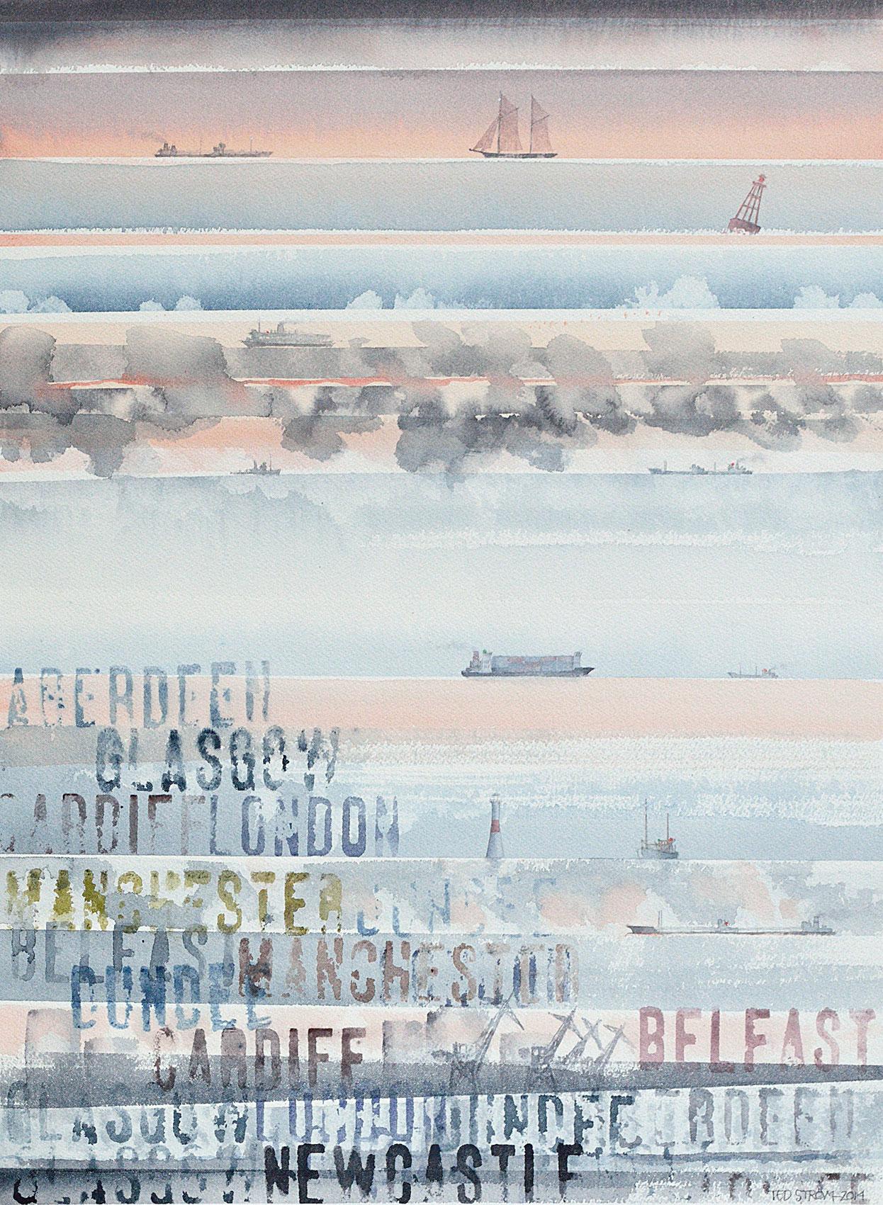 De sju haven  Akvarell 44 x 58 cm  8.000 : –