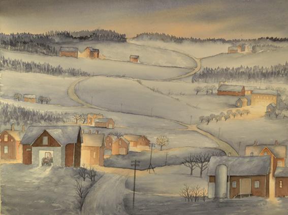 Vinterdröm 64 x 50 cm  7.500 : –