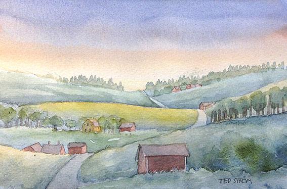Samma väg som då... Akvarell 16 x 11 cm 1.600 : –